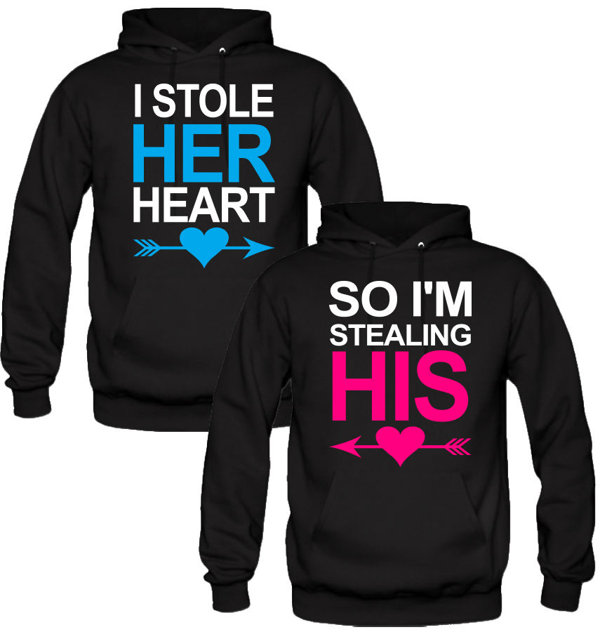 I Stole Her/His heart Couple Hoodie Matching Hoodies Sweatshirts Pullover  Jumper(China ( - Popular His And Hers Hoodies-Buy Cheap His And Hers Hoodies Lots