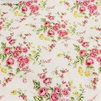 Cotton Canvas Fabric Printed Floral Fabric For Sofa Tablecloths DIY Cloth Bag Doll Cloth Curtain Home