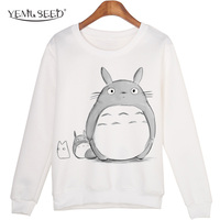 Casual 3D Sweatshirt Women Winter Clothing Cartoon Totoro Print Moleton Feminino Hoodies O Neck Pullover Tops