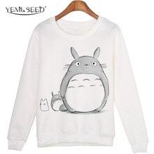Casual 3D Sweatshirt Women Winter Clothing Cartoon Totoro Pr