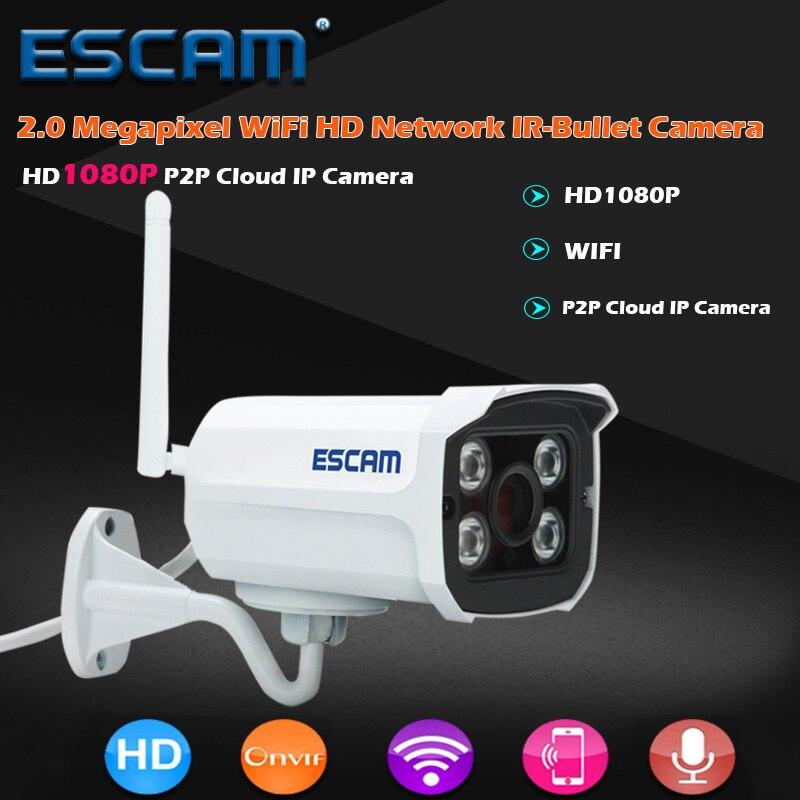 ESCAM QD900 WIFI IP Camera 2MP Full HD 1080P Network Infrared Bullet IP66 Onvif Outdoor Waterproof