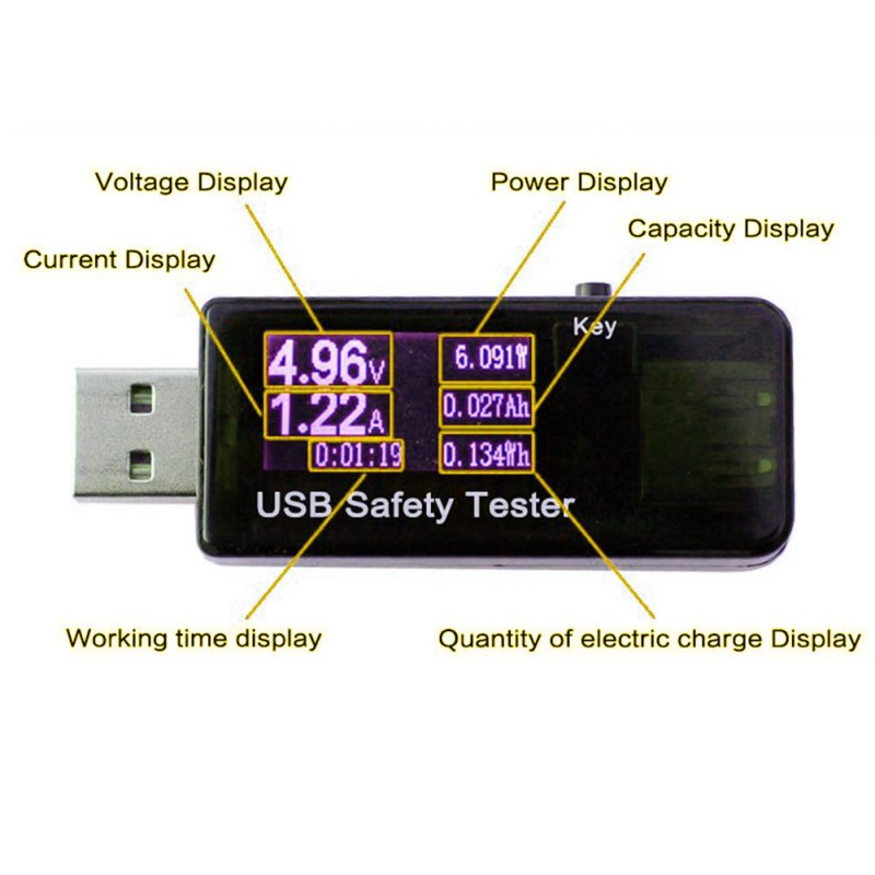 USB Tester 3-30V DC Voltmeter Ammeter Current Voltage Power Meter Capacity Monitor Quick Charger 2.0 Power Bank Detector dc 5v 3 1a 4 in 1 led digital voltmeter ammeter thermometer dual usb universal car charger voltage current temperature meter