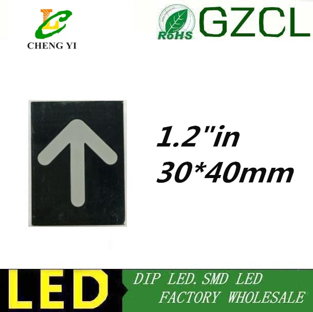 Devoted 10pcs Free Shipping 1.2inch Red Arrow Led Display 1.2 1.2in Digital Tube 30*40mm Red Indicator Lights With The Most Up-To-Date Equipment And Techniques Lights & Lighting