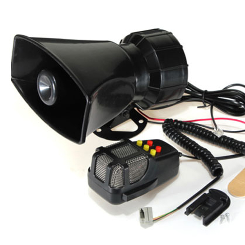 5 tones police siren horn 100w annunciator car siren megaphone police siren speaker loudspeaker. Black Bedroom Furniture Sets. Home Design Ideas