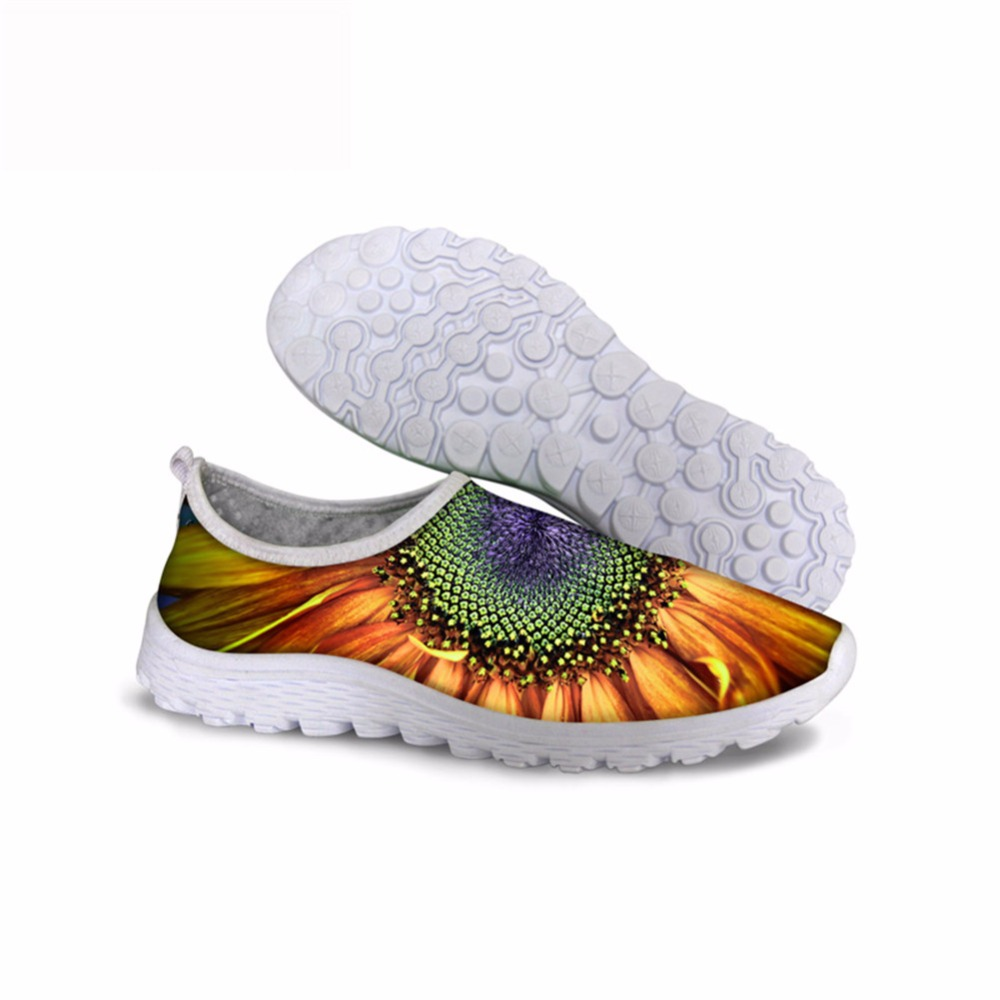 Noisydesigns colorful flowers printed fashion shoes 2018 spring summer sneaker gym women shoes air mesh casual walking running