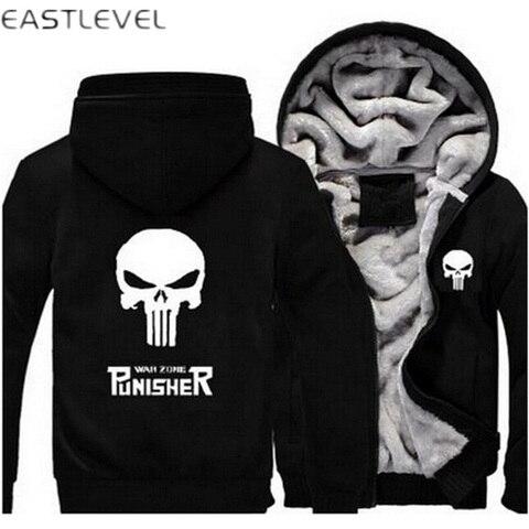 Dropshipping Men Hoodies Punisher Skull Casual Hoodies for Men Women Thicker Fleece Coat Jacket Unisex Sweatshirts plus size 6XL Islamabad