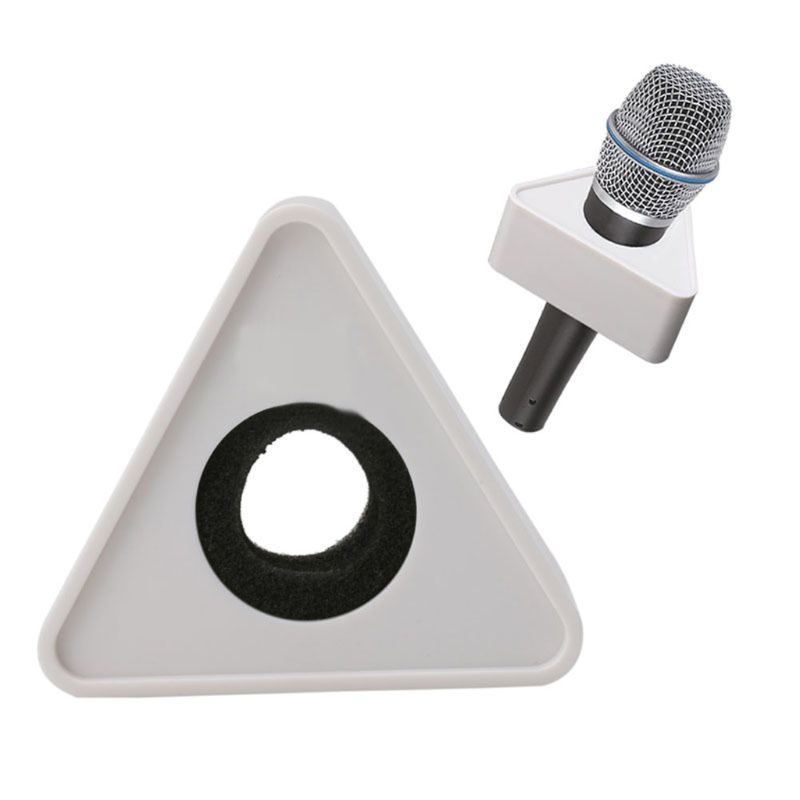 White Hole Triangular Mic Microphone TV Interview Logo Flag Station DIY