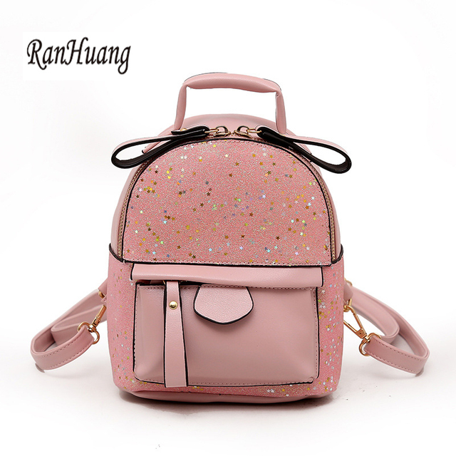 e18f6783f8c7 RanHuang New 2018 Women Small Backpack Pu Leather Backpack Teenage Girls  Cute Bags Casual Rucksacks Fashion
