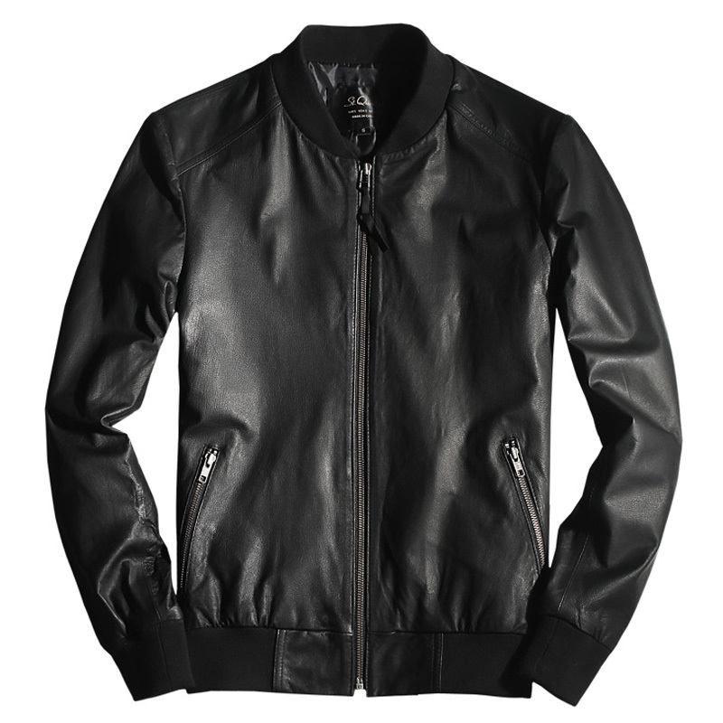 Online Shop NEW Men's Bomber Biker Motorcycle Collegiate Athletic ...
