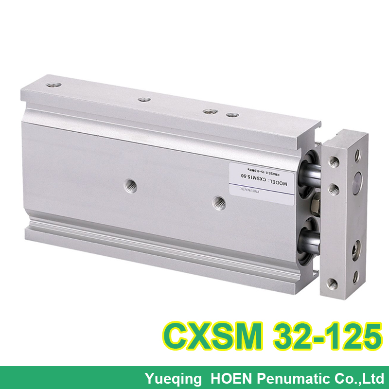 CXSM32-125 double acting dual rod piston air pneumatic cylinder CXSM 32-125 32mm bore 125mm stroke with slide bearingCXSM32-125 double acting dual rod piston air pneumatic cylinder CXSM 32-125 32mm bore 125mm stroke with slide bearing