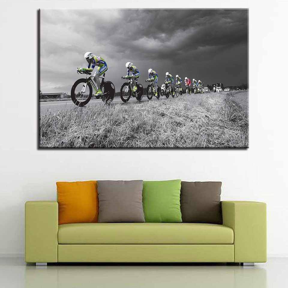 Canvas Paintings Wall Art HD Prints 1 Piece/Pcs Cross-Country Bicycle Posters Mountain Bicycle Pictures Sports Home Decor Frame