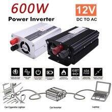 600 Вт алюминиевый сплав высокая эффективность портативный Преобразователь автомобиля силовой Инвертор адаптер автомобиль питание