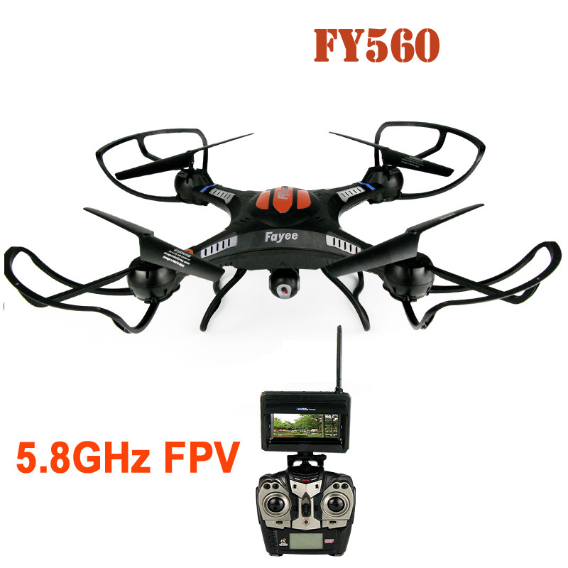 Professional remote control drone FY-560 2.4G 6-Axis Gyro 5.8G FPV RC Quadcopter with 2.0MP Camera Headless Mode 360 Rolling flying 3d fy x8 018 flying control unit for fy x8 quadcopter