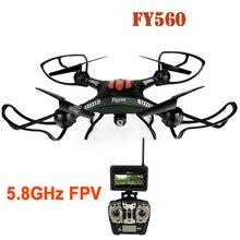 Profissional controle remoto zangão FY-560 2.4G 6-Axis Gyro 5.8G FPV RC Quadcopter com Câmera 2.0MP Headless Modo 360 rolando