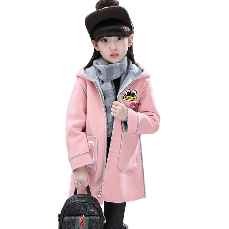 2018 Spring Autumn Children Jacket For Girls Hooded Printed Girls Outerwear Coat 4-11 Years Kids Teenage Winter Jacket цена