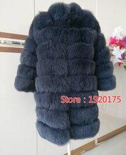 2017 Real Natural Fox Fur Coat for Women Jacket Russian Fur Long Coats Winter Warm Vest Waistcoat