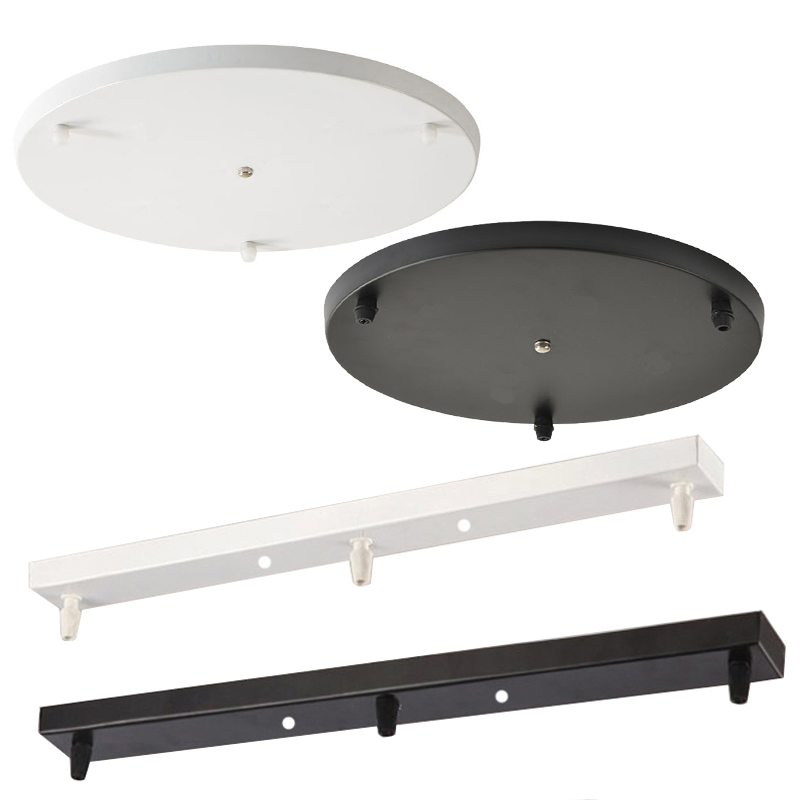 Pendant Lights Black/white Ceiling Plate Long Strip Round Plate Disc Base Hanging Plate LED Pendant Lamps Special Accessories