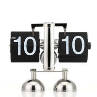 Digital Flip Down Clock Internal Gear Operated Flip Desk Shelf Clock E2S