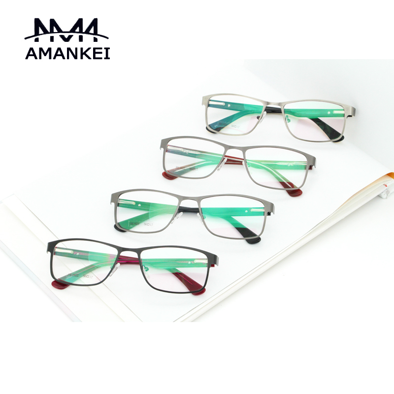 retro unisex eyeglasses frames buy custom logo best designer online square optical glasses frame metal frame face eyewear