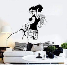 Vinyl Wall Decal Cinema Girl Come with Me Film Movie Stickers Home living room fashion decoration DY26