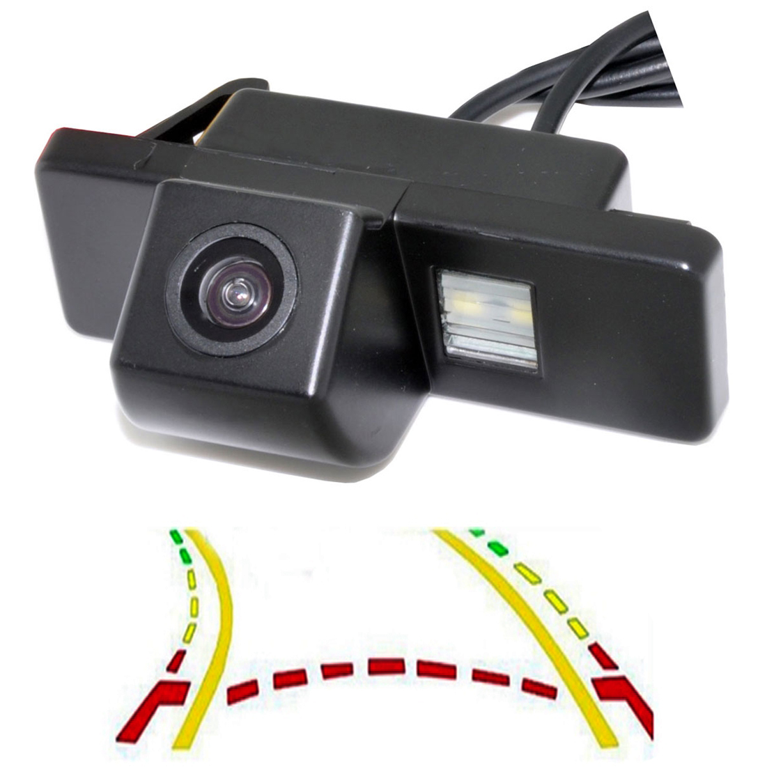 CCD  Intelligent Dynamic Trajectory Tracks Rear View Camera For NISSAN Juke QASHQAI/Geniss/Pathfinder/X-TRAIL Sunny