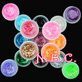 COSCELIA 18Pc Nail Gel Polish UV Gel Glitter Nail Art Decoration UV Gel Polish Big Glitter Gel Nail Art Polish