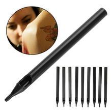 9 типов 50 шт одноразовые татуировки трубки черные колпачки для татуажа наконечник для длинных игл