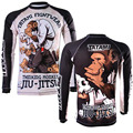 Promotion Sublimated Artwork Breathable Muay Thai Tatami Panda Thinker Monkey Jiu Jitsu Rashguard High Elasticity MMA Rash Guard