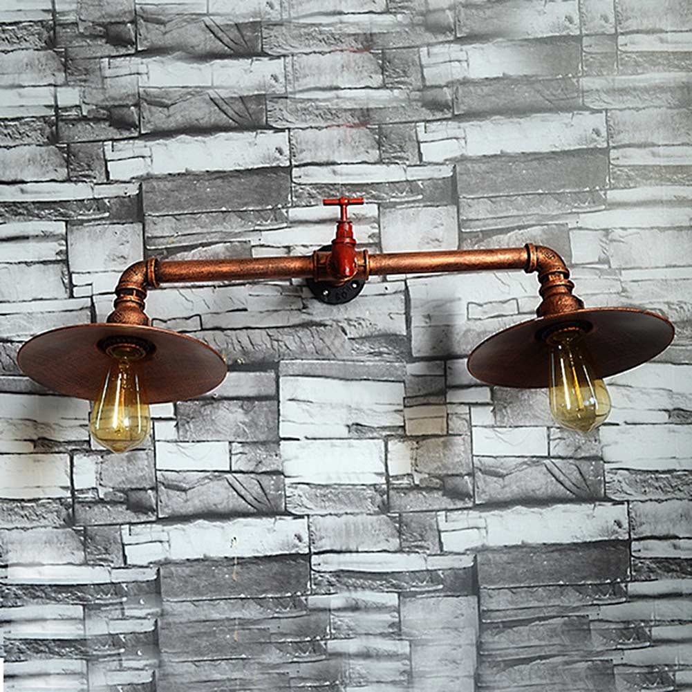 Retro Iron Industrial Water Pipe Vintage Loft Wall Lamp Sconce Creative Beside Lamps E27 Edison Home Light Fixture  цена и фото