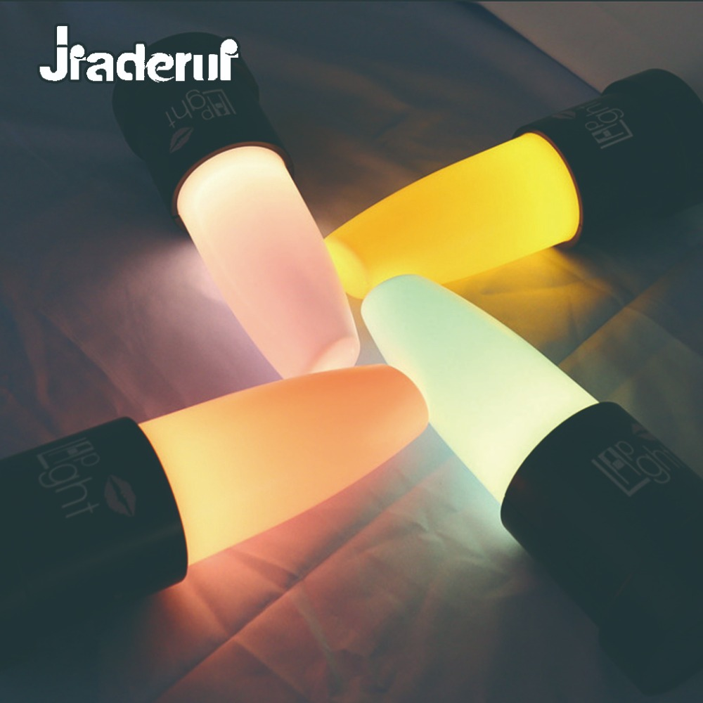 Jiaderui LED USB Charging Creative Lipstick Night Light Novelty Bedroom Bedside Table Lamp Decor Baby Children Bedroom Gift Lamp novelty led usb rechargeable night light colorful touch switch table lamp for home bedroom bedside decor color changing mode