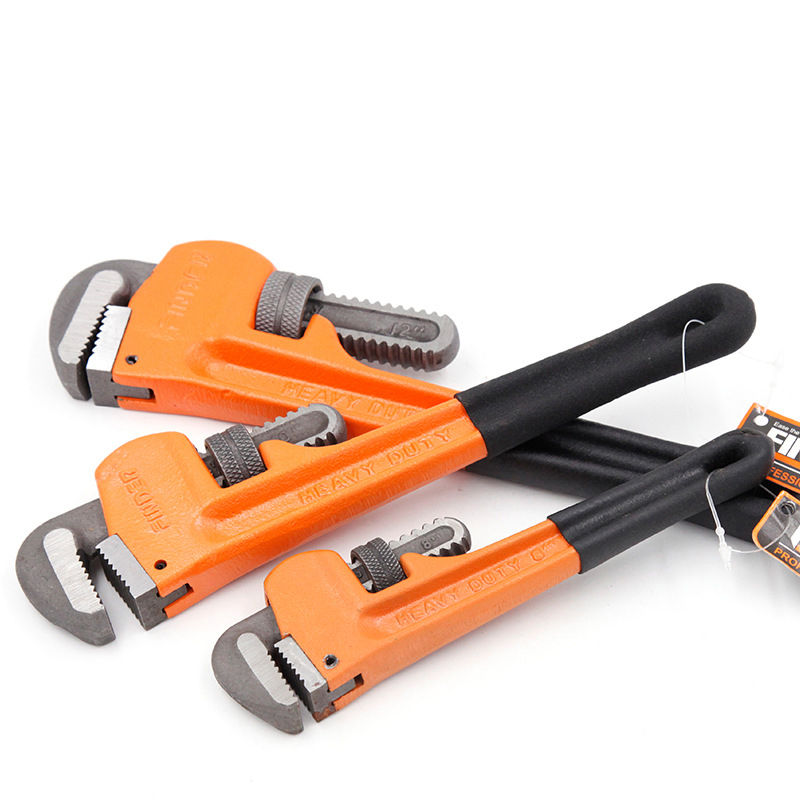 8/10/12 Heavy Duty Quick Pipe Wrenches Large Opening Universal Adjustable Water Pipe Clamp Pliers Hand Tools for Plumber 450mm heavy duty quick pipe wrench universal high carbon steel adjustable wrenches multi function monkey spanner hand tools