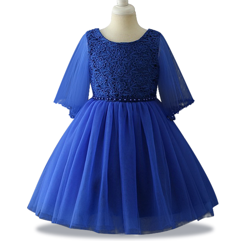 High quality Lace   Flower     Girls     Dress   For wedding Party Net yarn sleeve princess   dresses   for   girls   clothes Tutu Christmas   Dress