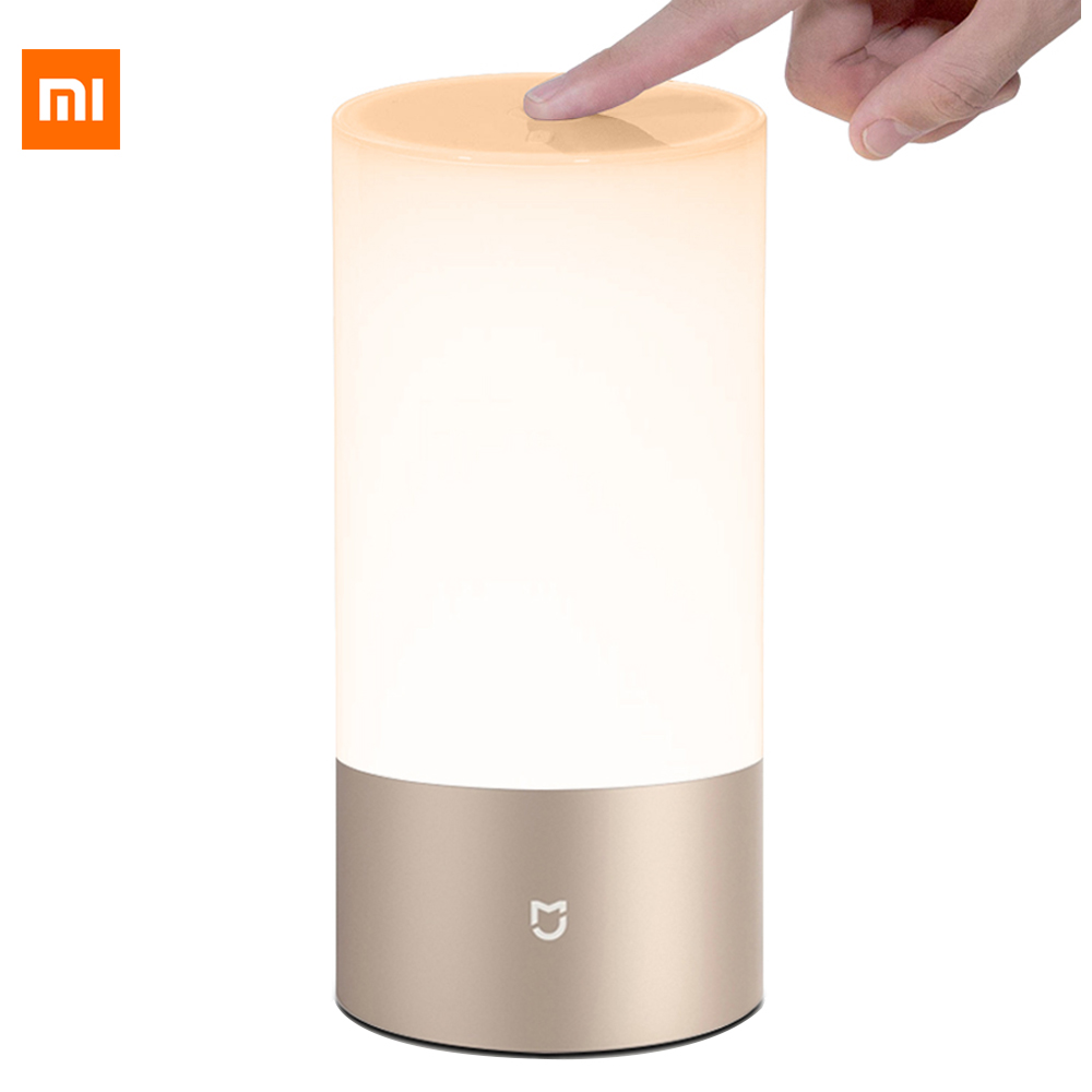 Xiaomi Mijia Bedside Lamp Bluetooth 4 2 BLE WiFi Connection Touch Control 300Lm 16 Million RGB