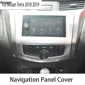 For Nissan Terra 2018 2019 ABS GPS Navigation Panel Cover Media Screen Frame Car Styling image