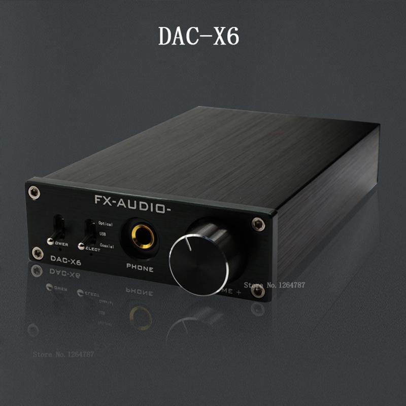 Prix pour Fx-audio feixiang DAC-X6 fièvre HiFi amp USB Fiber Coaxial Numérique Audio Décodeur DAC 16BIT/192 amplificateur TPA6120 livraison gratuite