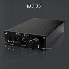 fx-audio feixiang DAC-X6 fever HiFi amp USB Fiber Coaxial Digital Audio Decoder DAC 16BIT / 192 amplifier TPA6120 Free shipping