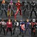 11 Тип Капитан Америка 3 Гражданская Война Черная Пантера Фигурки Зимний Солдат Сокол Алые Ведьма Видения Hawkeye Рисунок Игрушки