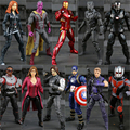 11 Tipo de Capitão América Figuras de Ação Guerra Civil de 3 Pantera Negra Winter Soldier Falcon Visão Feiticeira Escarlate Figura Hawkeye Brinquedos