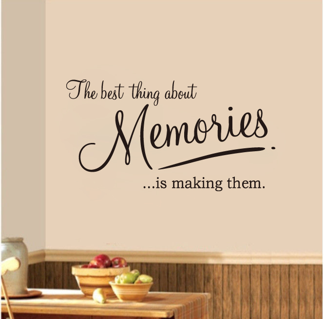 Aliexpresscom Buy Momeries word quote wall stickers Removable