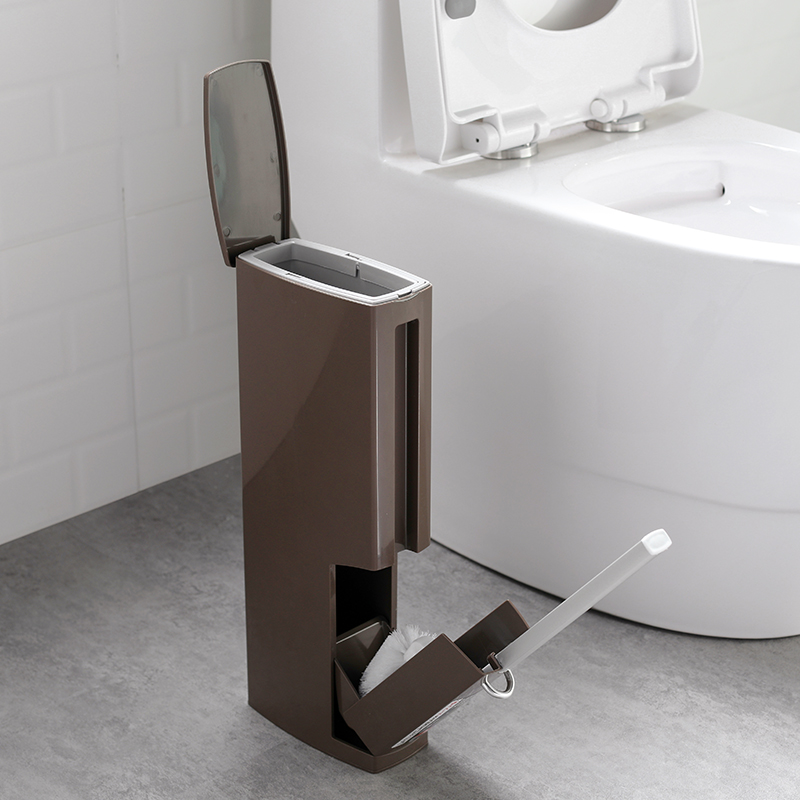 luxurious integrated trash can within toilet cleaning. Black Bedroom Furniture Sets. Home Design Ideas