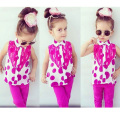Baby Girl Clothes Summer Dot Girls Outfits 2pcs T-Shirt+Pants Casual Children Clothing Set Todder Girl Set Clothes