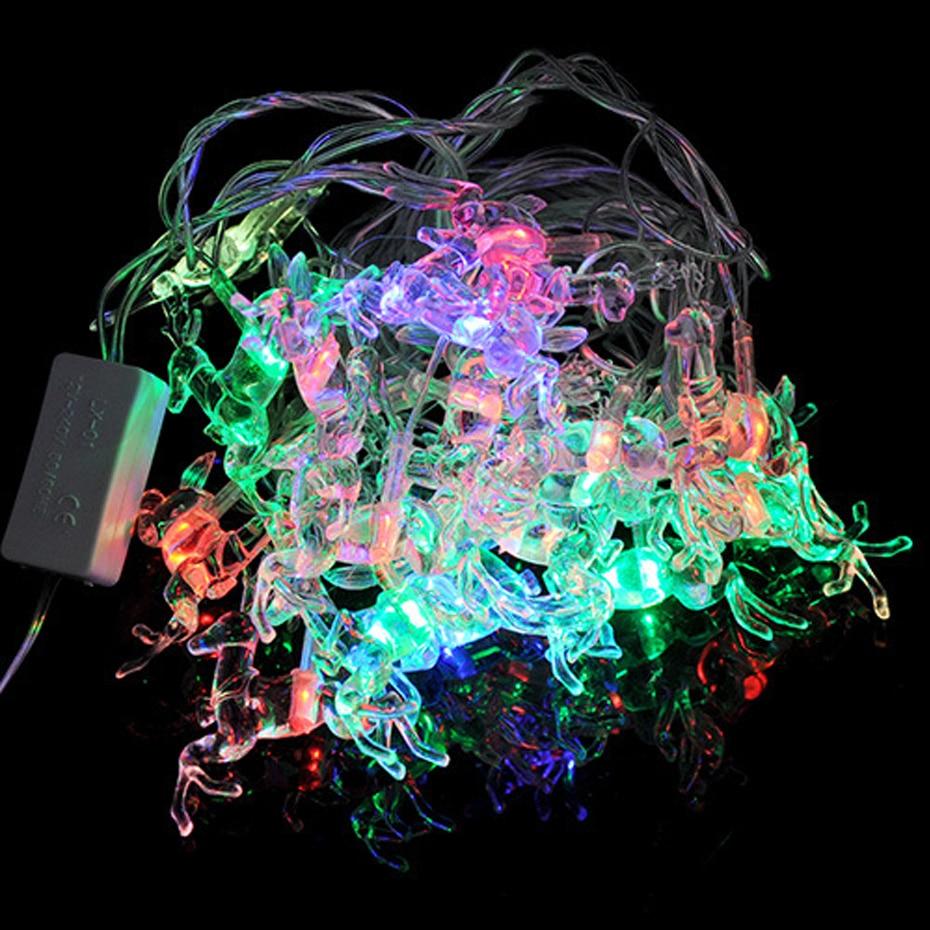 YINGTOUMAN Deer Lamp 4m 20LED EU/US Plug Christmas Garland String Christmas Lights Fairy ...