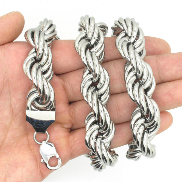 16mm Huge Heavy Stainless Steel Biker Men's Fashion Necklace, 2014 New Brand Designer Silver Snake Neckalce Free Shipping