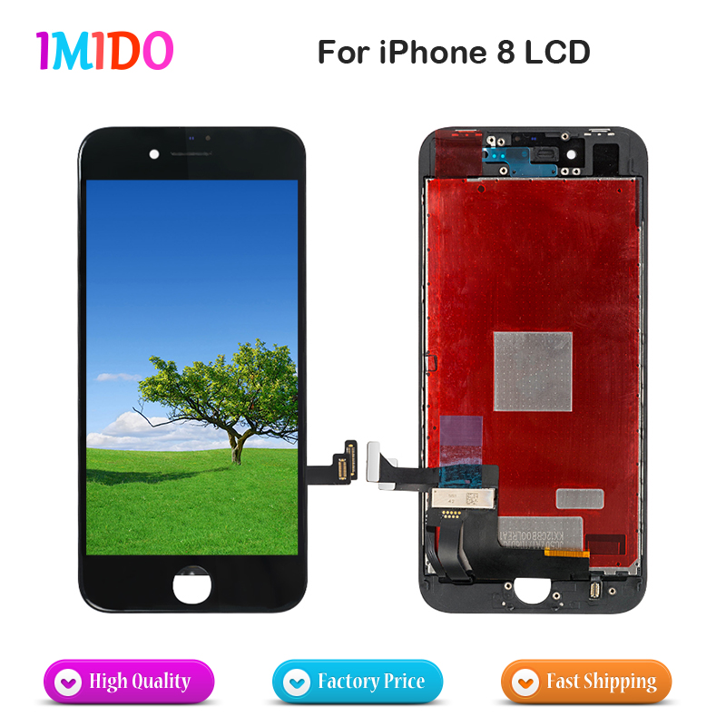 5Pcs Lot High Quality LCD For iPhone 8 LCD Display Touch Screen Digitizer Complete Assembly Digitizer