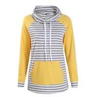 Vestes à capuche femmes automne à manches longues sweat femmes mode rayure imprimé pull décontracté hauts à capuche WS3781C