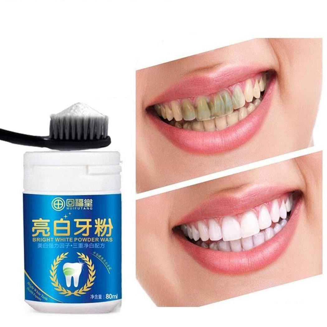 Bright White Dental Teeth Whitening Powder Teeth As Pocture Cleaning Remove Plastic 80ml Stain Oral Care