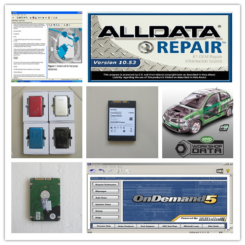 all data repair alldata 10.53 mitchell ondemand5.8 vivid workshop data truck and car auto software 3in1 hdd 750gb dhl free shipping mitchell 2015 car repair software fits car from 1984 to 2015 work for any computer and no limited to use