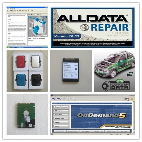 все данные ремонт alldata 10.53 с Митчелл ondemand5.8 яркий семинар данных грузовиков и авто программного обеспечения 3в1 жесткий диск 750 Гб