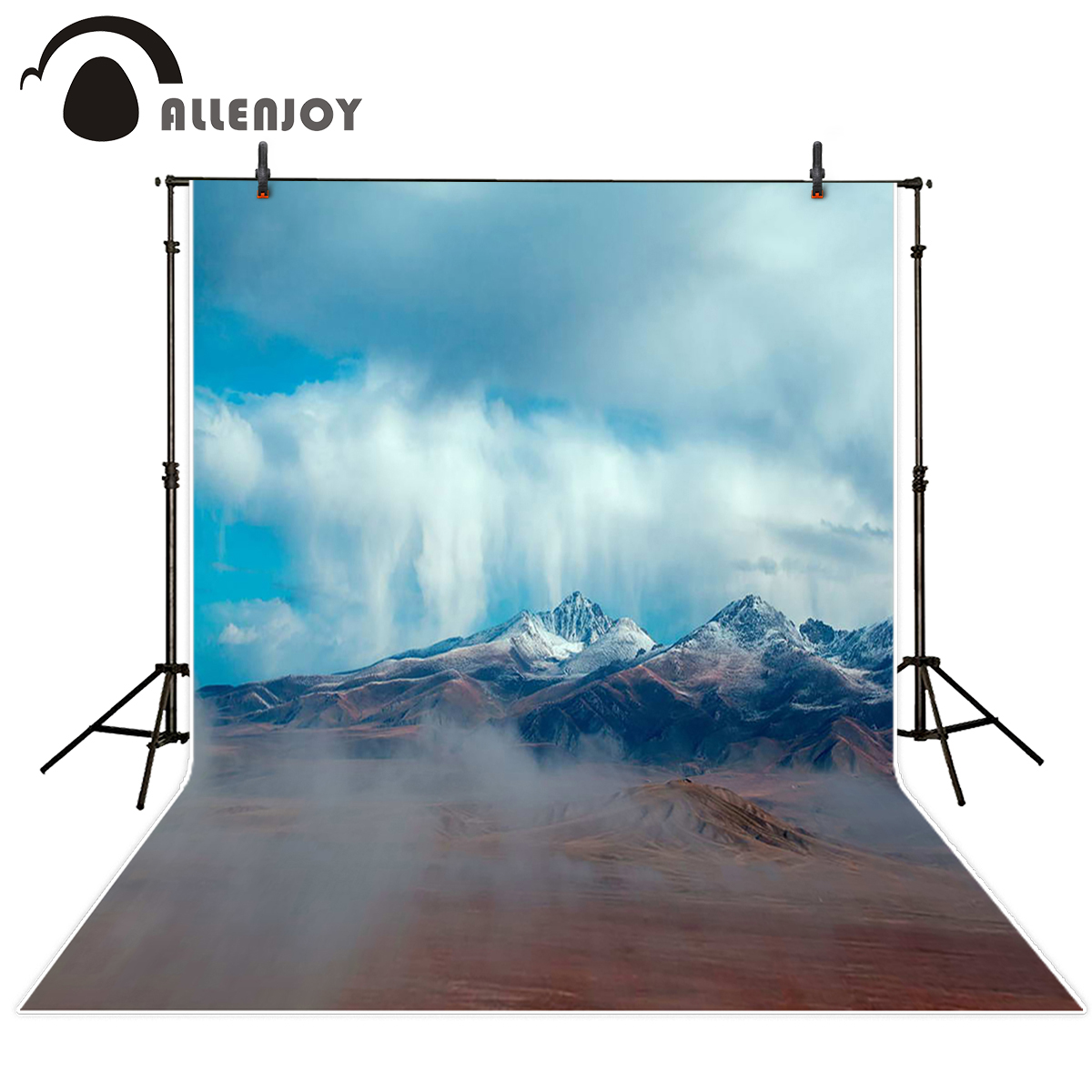 Allenjoy backgrounds for photo studio mountain snow winter smoke plain backdrop photocall natural scenery photography