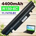 4400 mah batería del ordenador portátil para samsung n100 n143 n145p n148 n150 n250 n260 aa-pb2vc3b aa-pb2vc3w aa-pb2vc6b aa-aa-pl2vc6b pl2vc6w